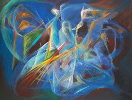 """""""L'heure bleue"""" 50x65 pastel sur papier"""